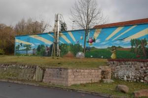 Wandbild am Heizhaus
