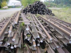 abgebaute Schienen