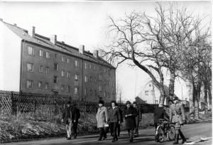 erster Wohnblock 1964